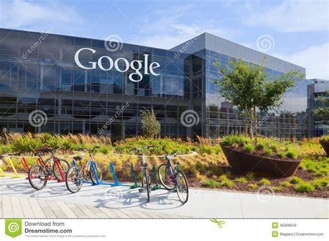 google offices in usa exterior view of a google headquarters building editorial