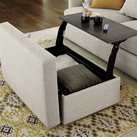 reversible ottoman coffee table reversible ottoman with tray dop designs