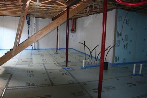rigid foam basement insulation capillary beneath slab polyethylene sheeting or