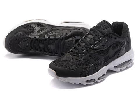 nike air max 96 black white bottom running shoes