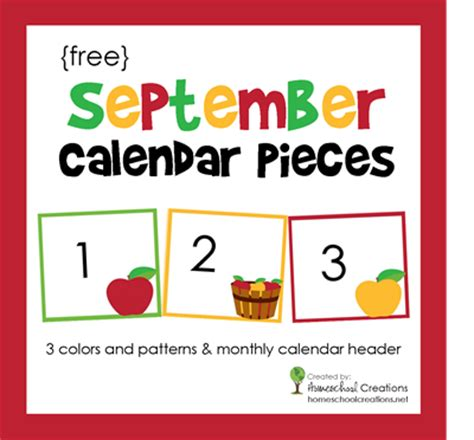 printable calendar pieces 10 apples up on top preschool spell out loud