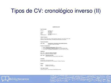 Modelo De Curriculum Vitae Inverso C 243 Mo Redactar Un Cv Biblogtecarios
