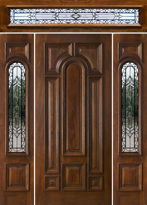 Mahogany Exterior Doors With Sidelights And Transoms 68 Exterior Doors With Sidelights And Transoms