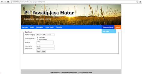 membuat web dengan html lengkap membuat website menarik dengan html membuat edit profil
