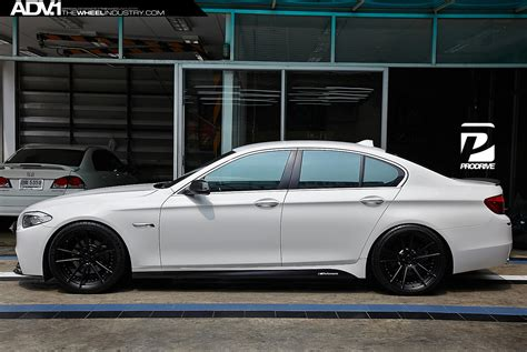 custom black bmw bmw f10 535i adv5 2 m v2 sl concave wheels matte black