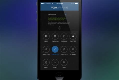 iphone app style screen psd file