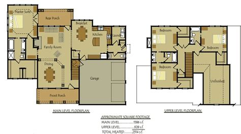 Country Floor Plans Country Cottage House Floorplan Ranch Plans