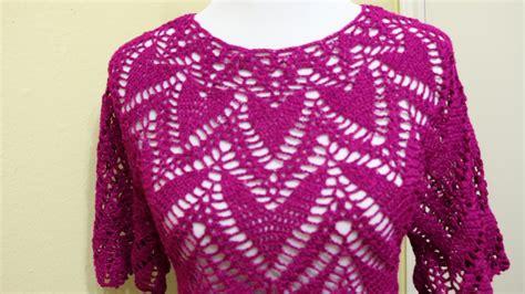 blusa tejida a crochet para verano parte 1 de 2 blusa corazones crochet parte 1 de 2 my crafts and diy