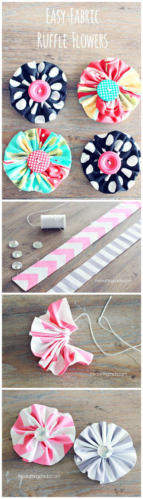fabric crafts easy 50 easy fabric flowers tutorial make your own fabric
