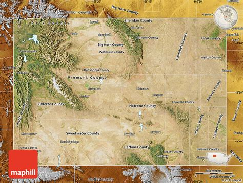 physical map of wyoming satellite map of wyoming physical outside