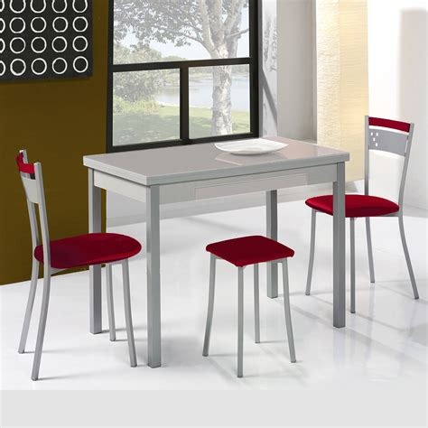 mesa y taburetes de cocina conjunto de mesa extensible alas sillas y taburetes de