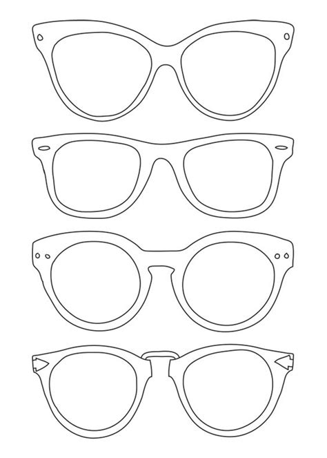 glasses template sunglasses template use for back to school for