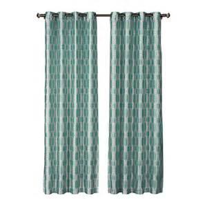 teal panel curtains window elements wesley faux silk teal grommet wide