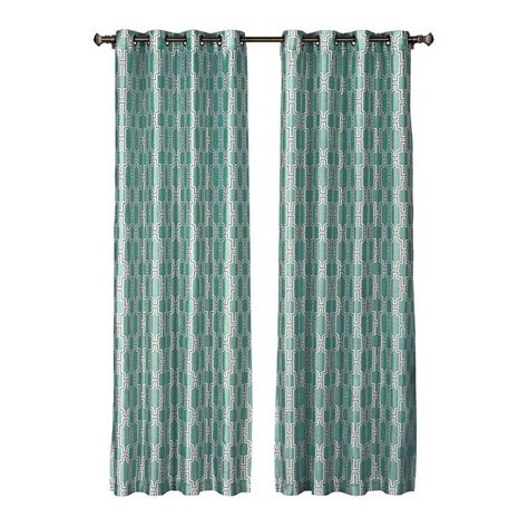 teal panel curtains window elements wesley faux silk teal grommet extra wide