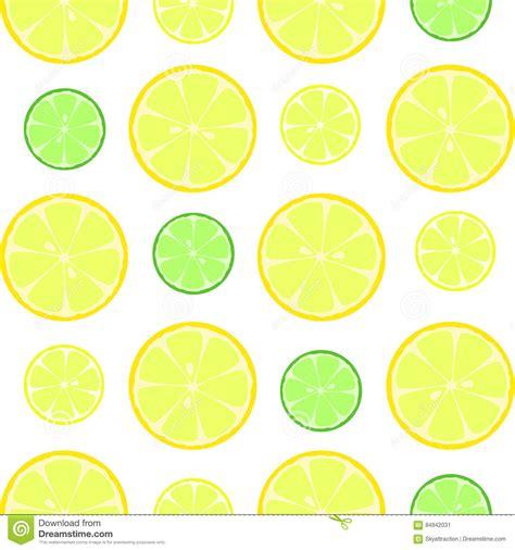 seamless lemon pattern citrus slices seamless vector pattern stock vector