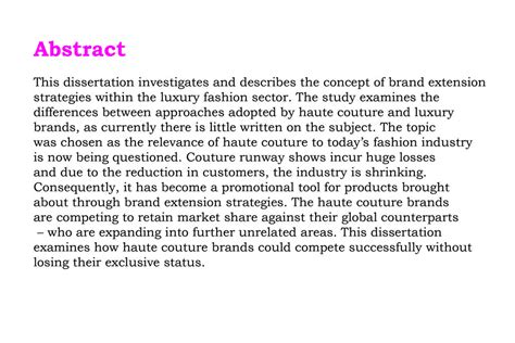 thesis abstract about business preea vasheast london college of fashion showtime