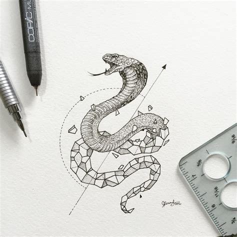 geometric doodle ideas geometric beasts cobra by kerby rosanes