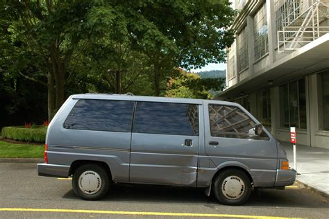 old nissan van old parked cars 1987 nissan van xe quot gold dust quot
