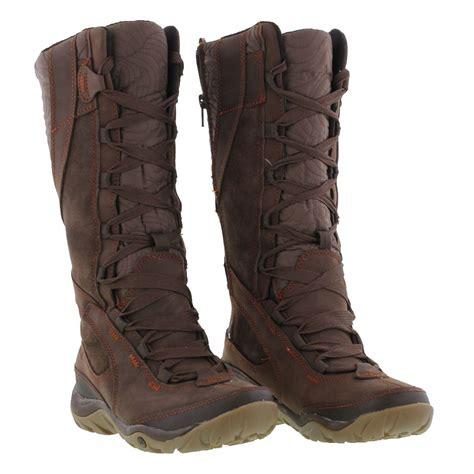 merrell dewbrook peak womens black brown leather