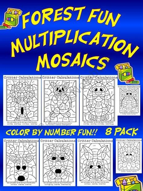 thanksgiving color by number multiplication mosaic bundle pin by camielle veenstra on math pinterest