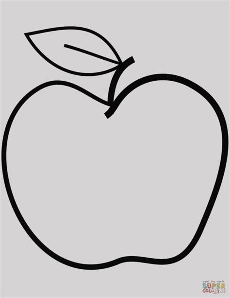 imagenes para colorear una manzana manzana para colorear dibujo de una dibujos manzana para