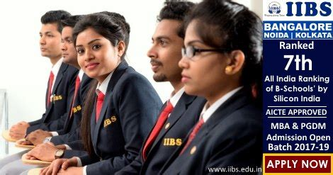 Mba Open In Bangalore by Mba Admissions Open For 2017 19 At Iibs Bangalore Noida