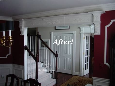 Dining Room Entrance Trim Before After Foyer And Dining Room With Archway The