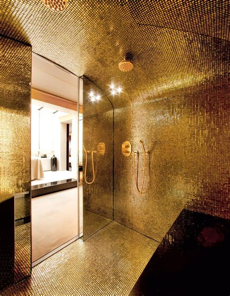 Tile Ideas For Bathroom Walls by 25 Luxury Gold Master Bathroom Ideas Pictures Decorextra