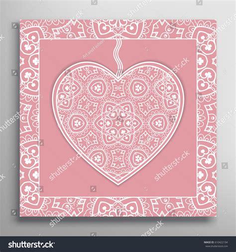 filigree cards templates card invitation ornate lace frame stock vector