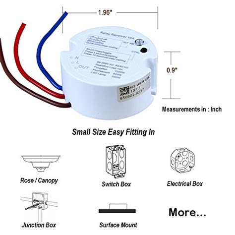 acegoo wireless lights switch kit acegoo wireless lights switch kit self powered battery
