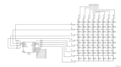 led matrix circuit diagram circuit and schematics diagram