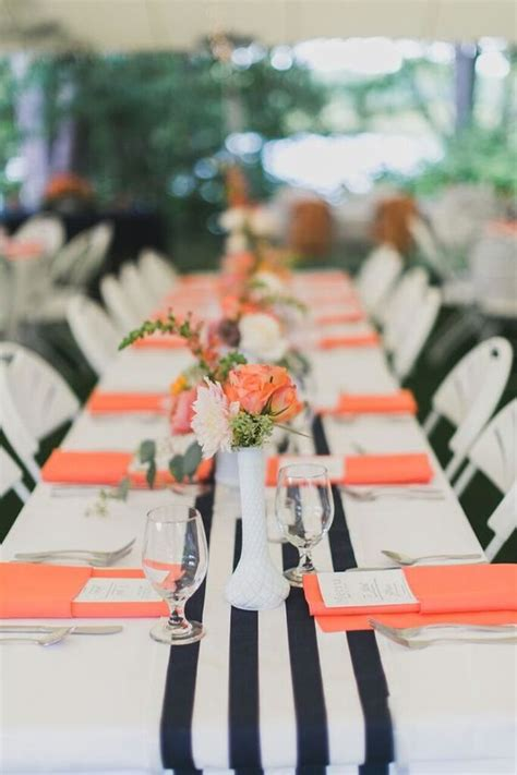 navy and coral wedding centerpieces 100 cool black and white sassy stripes wedding ideas