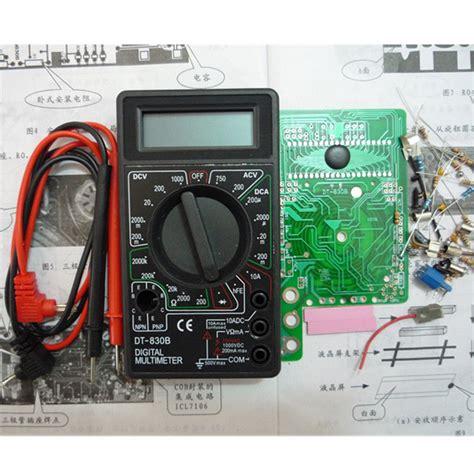 Multimeter Digital Dt830b diy dt830b digital multimeters kit electronic learning kit