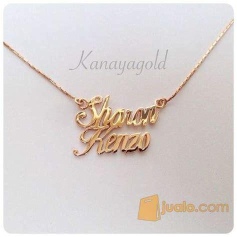 Kalung Nama Infinity Perhiasan Nama 2 kalung nama emas cirebon jualo