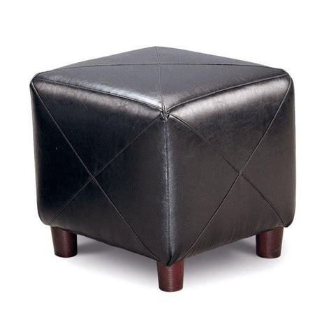 Coaster Contemporary Fabric Cube Ottoman In Black 500134 Black Fabric Ottoman