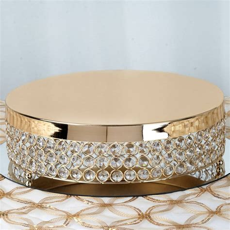 beaded cake stand 13 5 quot diameter gold fancy beaded metal cake stand