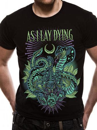 As I Lay Dying 16 T Shirt Size M as i lay dying snakes t shirt buy as i lay dying snakes t shirt at loudclothing uk as