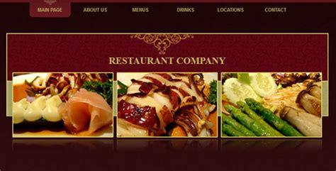 Free And Premium Restaurants Cafes Website Templates Designmodo Restaurant Website Templates