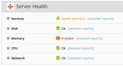 server health report template server health monitor