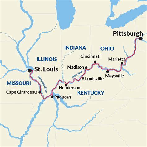 united states map showing ohio river ohio river cruise