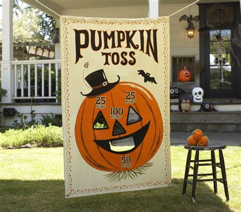 pottery barn kids pumpkin toss game halloween carnival party banner decor new ebay