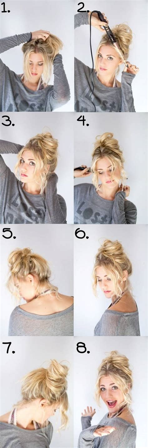 curly hair updos step by step how to do a messy bun for curly thick frizzy hair
