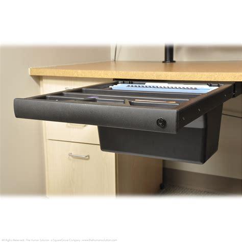 Sliding Drawer shop uplift standing desk large sliding drawers