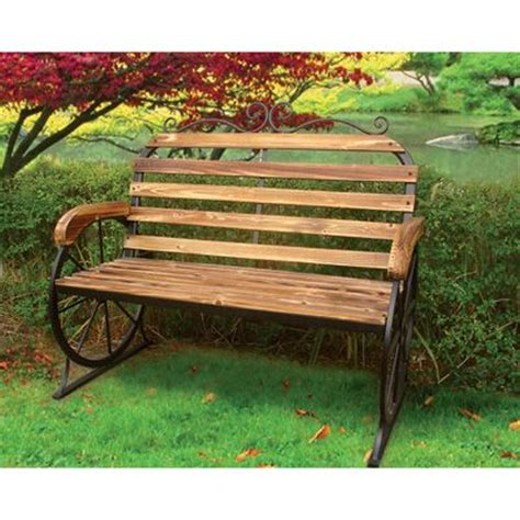 metal wagon wheel bench steel frame wagon wheel bench for the home pinterest