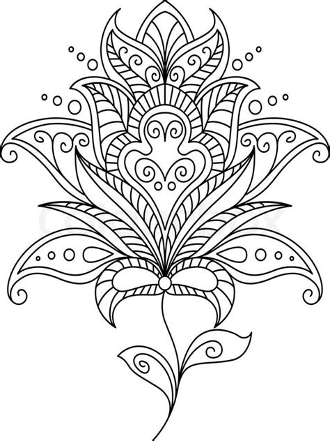 Tiny Home Design Plans by Intricate Dainty Black And White Floral Motif Design
