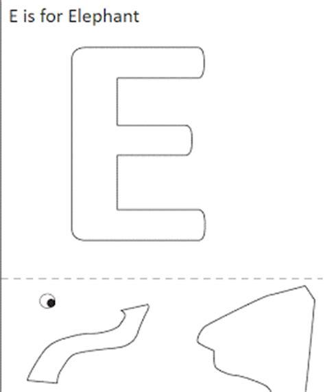 elephant craft template letter e crafts preschool and kindergarten
