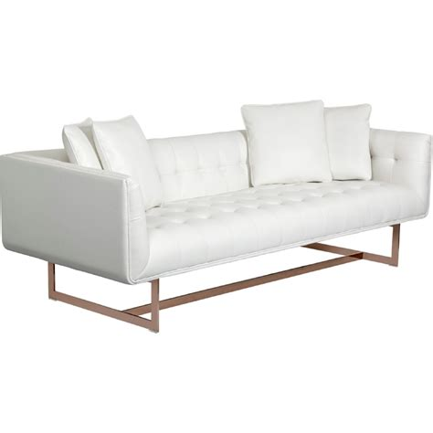 Gold Leather Sofa Matisse Sofa Sunpan Matisse Sofa And Baxter Coffee Table Contemporary Thesofa