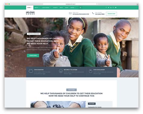 31 Best Wordpress Themes For Non Profit Charity Organizations 2018 Colorlib Charity Web Templates