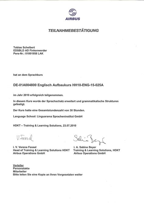 Confirmation Letter Participation Event curriculum vitae tobias scheibert