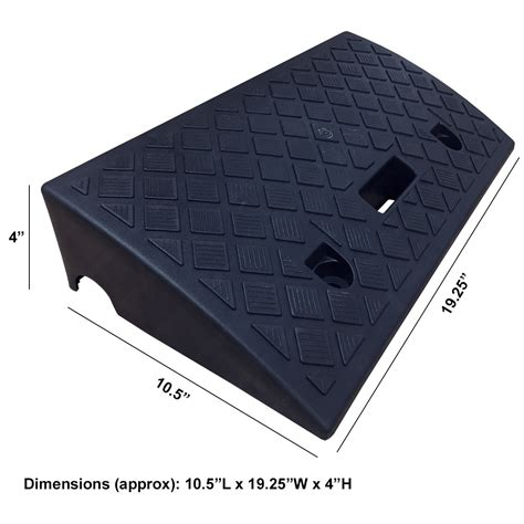 Propylene Vinyl Acrylic 4 quot polypropylene plastic portable curb rs electriduct